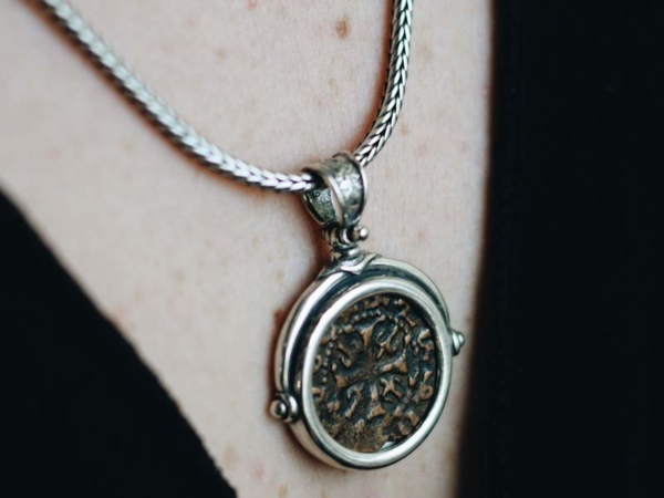 2019-Medieval-Bronze-Coin-Silver-Necklace