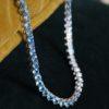 Blue Topaz Tennis Necklace