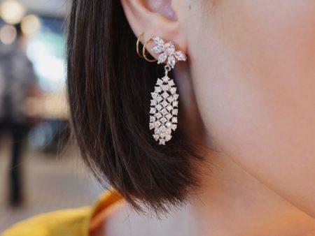 Camrose and Kross Jacqueline Kennedy Replica Crystal Waterfall Earrings