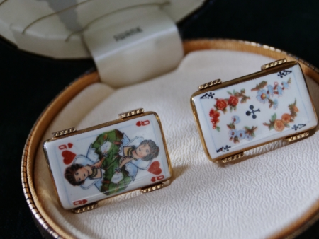 Swank Arts of the World Playing Card Cufflinks