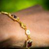 Elizabethan Enamel and Garnet Bracelet Cheapside Hoard