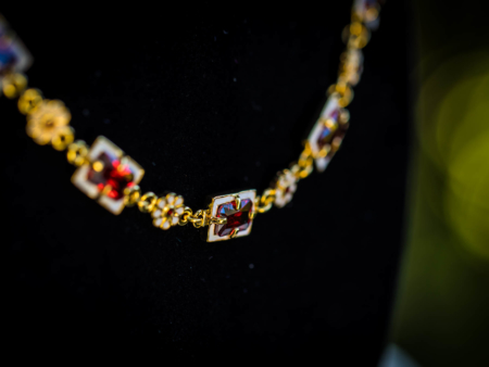 Elizabethan Enamel and Garnet Necklace Cheapside Hoard