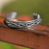 oxidized braided cuff bracelet